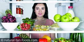 Kühlschrank mit Gemüse