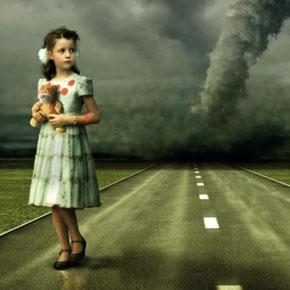 Kind vor Sturm
