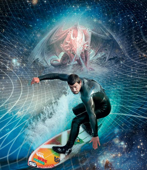 Galaktischer Surfer