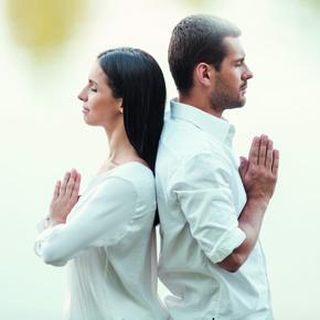Versöhnung zwischen Frau und Mann